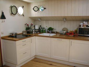 Keuken in een woonschip